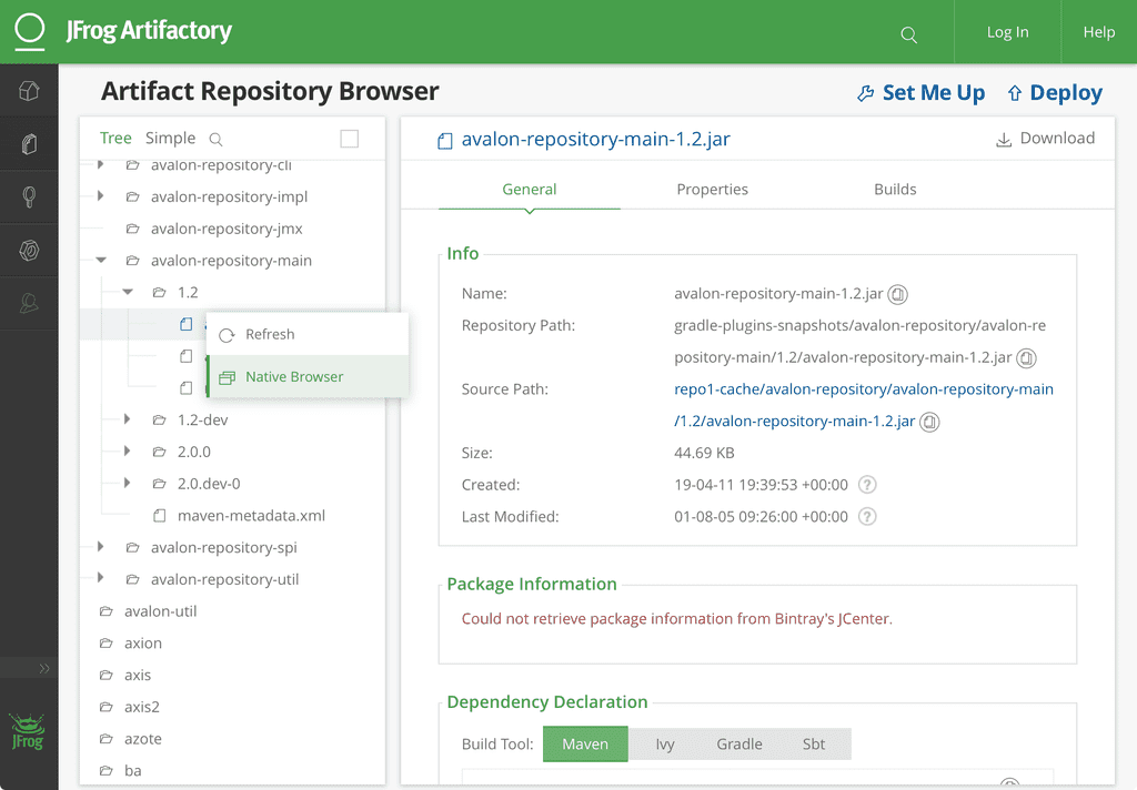 Featured AngularJS project for jFrog by 500Tech